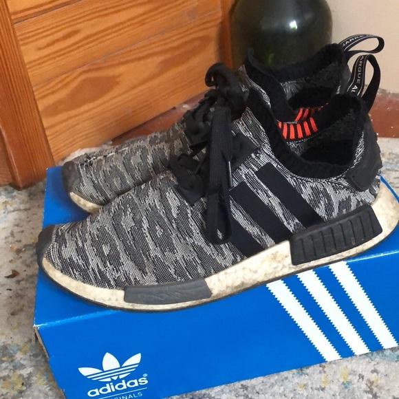 Adidas Nmd R Pk Black Glitch Camo